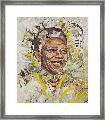Mandela Framed Print by Bob Usoroh