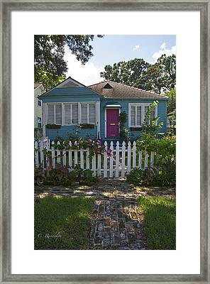 Mandevilla Cottage Framed Print