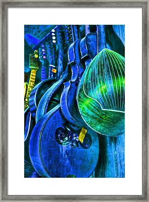 Mandolin Blues Framed Print by Frank SantAgata