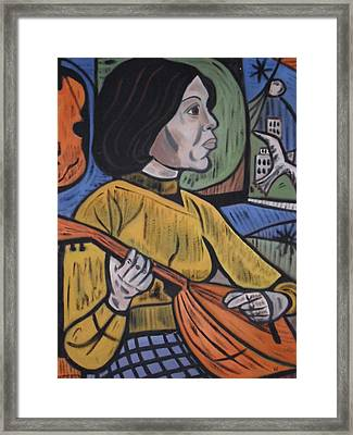 Mandolin Girl Framed Print