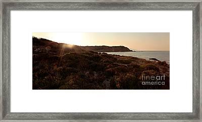 Mandraki Elias Beach Sunrays Skiathos Framed Print by Nick Karvounis