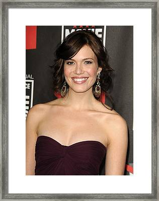 Mandy Moore At Arrivals For 16th Annual Framed Print by Everett