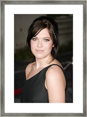 Mandy Moore At Arrivals For American Framed Print by Everett
