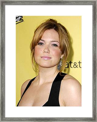Mandy Moore At Arrivals For Spike Tvs Framed Print by Everett