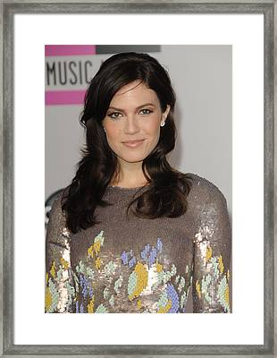 Mandy Moore At Arrivals For The 37th Framed Print by Everett