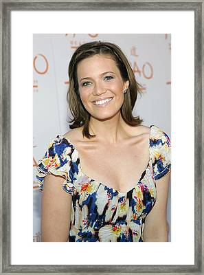 Mandy Moore In Attendance For Tao Beach Framed Print by Everett