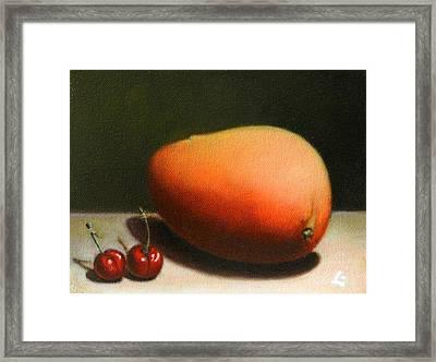 Mango And Cherries Framed Print