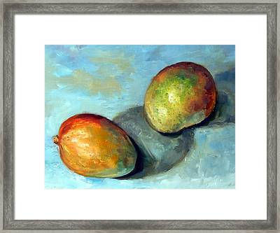 Mango's Framed Print by Mark Hartung