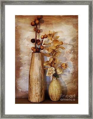 Mangowood Vase Framed Print by Marsha Heiken