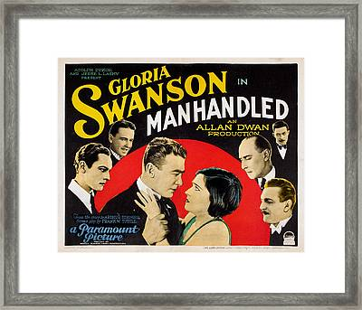 Manhandled, Gloria Swanson, 1924 Framed Print