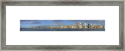 Manhattan - Hudson View Framed Print