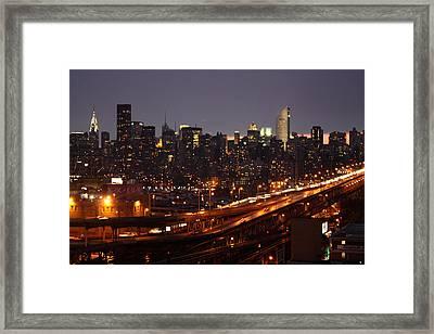 Manhattan- 2 Framed Print by Mark Ashkenazi
