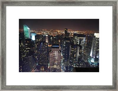 Manhattan Framed Print by Andy Yoon