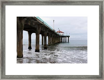Manhattan Beach Pier Framed Print