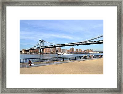 Manhattan Bridge1 Framed Print by Zawhaus Photography