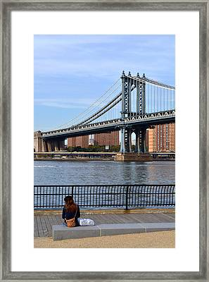 Manhattan Bridge2 Framed Print by Zawhaus Photography