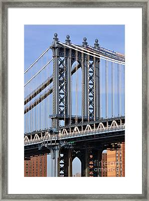 Manhattan Bridge3 Framed Print by Zawhaus Photography