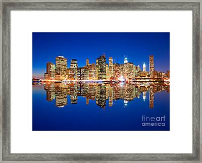 Framed Print featuring the photograph Manhattan by Luciano Mortula
