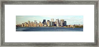 Manhattan Skyline Panarama Framed Print