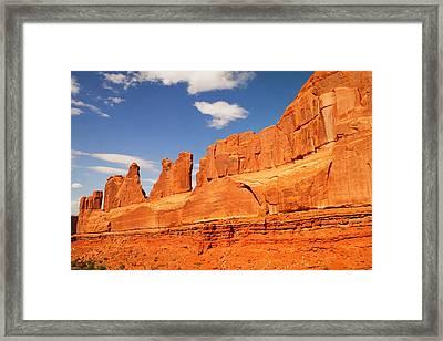 Manhatten In Utah Framed Print by Jeff Swan