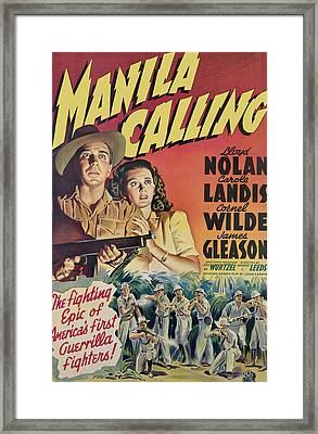 Manila Calling, From Left, Lloyd Nolan Framed Print