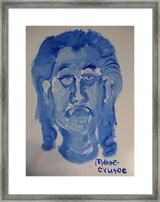 Manne-crusoe Blue Framed Print by Jay Manne-Crusoe