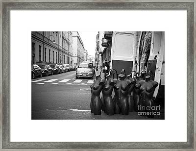 Mannequins Framed Print by Sonny Marcyan
