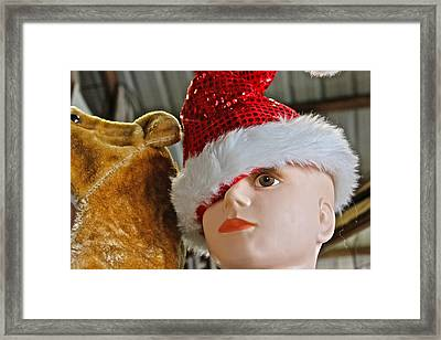 Manniquin Santa 2 Framed Print by Bill Owen