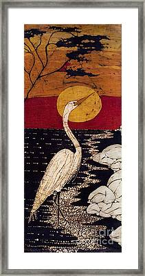 Mano's Egret Framed Print by Alexandra  Sanders