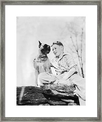 Man's Best Friend Framed Print by Evans