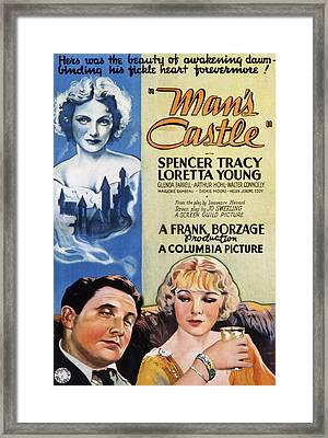 Mans Castle, Spencer Tracy, Loretta Framed Print by Everett