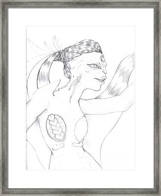 Manta Framed Print by Michelle Pedro