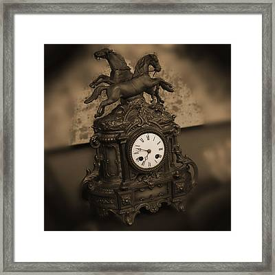 Mantel Clock Framed Print by Mike McGlothlen