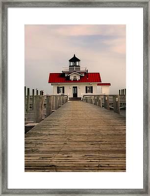 Manteo Lighthouse Framed Print by Cindy Haggerty