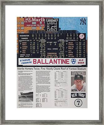 Mantle Triple Crown 1956 Framed Print by Marc Yench