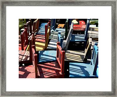 Many Seats For Learning Framed Print by EricaMaxine  Price