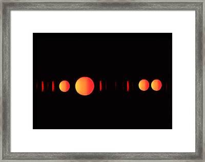 Many Suns Framed Print