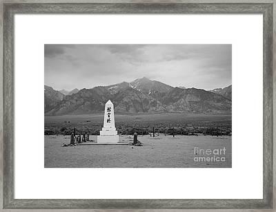 Manzanar Memorial Framed Print