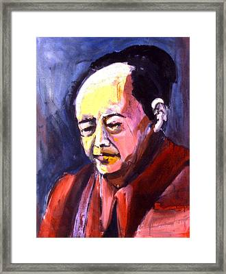 Framed Print featuring the painting Mao by Les Leffingwell