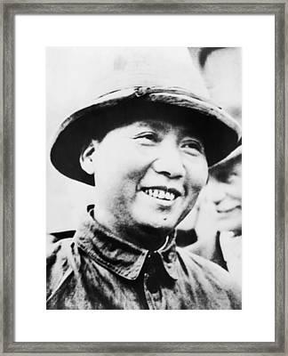 Mao Zedong, Leader Of Communist Faction Framed Print