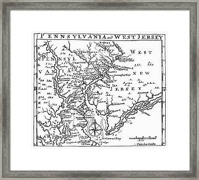Map: Delaware River Framed Print