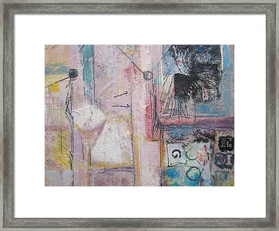 Map G Framed Print by Nancy Nicol