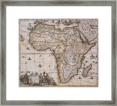 Map Of Africa, 1688 Framed Print by Photo Researchers