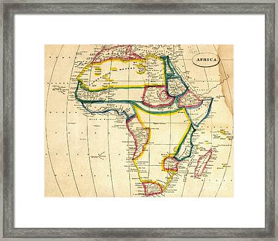 Map Of Africa 1812 Framed Print