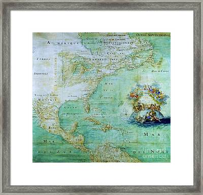 Map Of America  Framed Print by Pg Reproductions