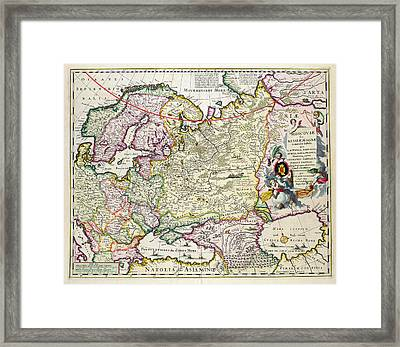 Map Of Asia Minor Framed Print by Nicolaes Visscher