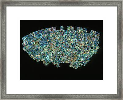 Map Of Galaxy Distribution Of 2 Million Galaxies Framed Print