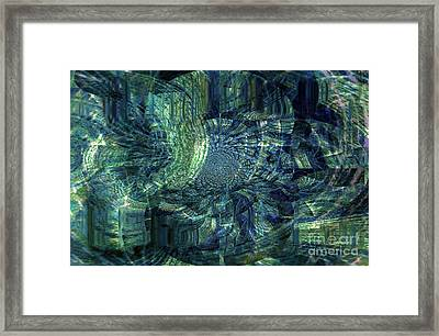 Map Of Life's Journey Framed Print by Fania Simon