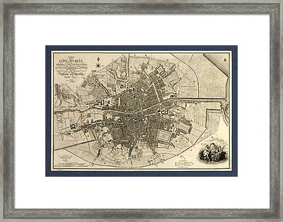 Map Of The City Of Dublin, 1797 Framed Print by Library Of Congress, Geography And Map Division