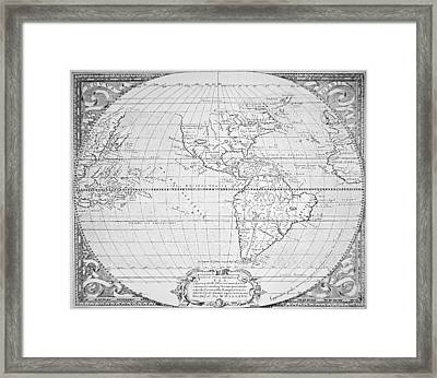 Map Of The New World 1587 Framed Print by Richard Hakluyt